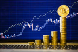 Financial,Growth,Concept,With,Golden,Bitcoins,Ladder,On,Forex,Chart